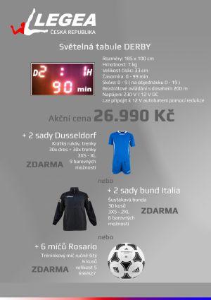 Světelná tabule fotbal + zboží zdarma