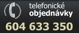 Telefonické objednávky 604 633 350