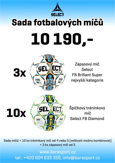 SADA MÍČŮ SELECT FB BRILLANT SUPER A SELECT FB DIAMOND - TOP AKCE!
