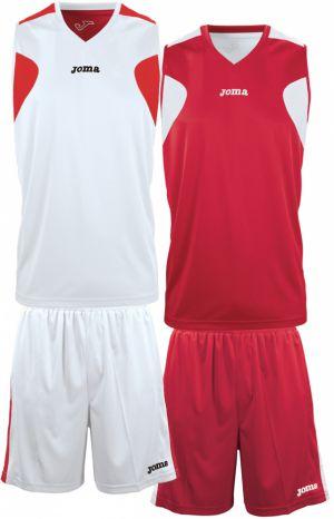 Oboustranný basketbalový dres JOMA - červená-bílá