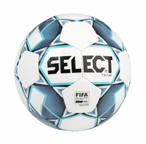 Fotbalový míč Select FB Team FIFA bílo modrá - AKCE 10 ks